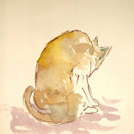 Michelle Reeve - Washing Cat I