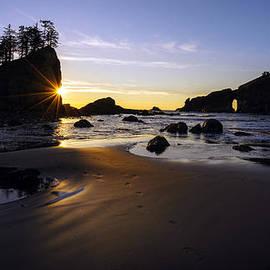 Mike Reid - Washington Coast Evening Sunstar Tide