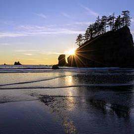 Mike Reid - Washington Coast Sunset Tranquility