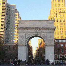 Photographic Art and Design by Dora Sofia Caputo - Washington Square Arch - New York City