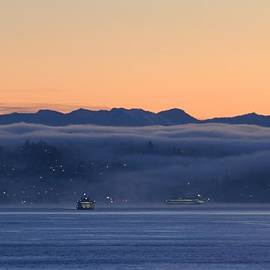 E Faithe Lester - Washington State Ferries at Dawn