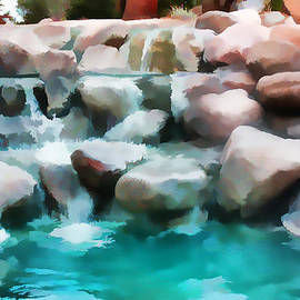 Sherri  Of Palm Springs - Water Art  Pond At  Palm Desert Muse