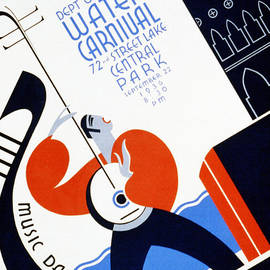 Digital Reproductions - Water Carnival Poster 1936