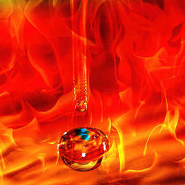 Geraldine Scull   - water drop on fire GREAT BALLS OF FIRE