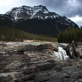 Water falls and mountain