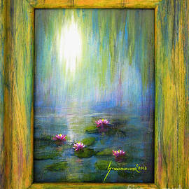 Jerome Stumphauzer - Water Lilies with Painted Frame