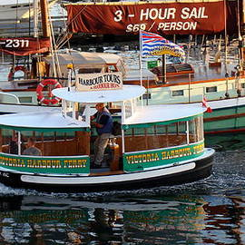 Richard Rosenshein - Water Taxi At The Victoria British Columbia Harbor