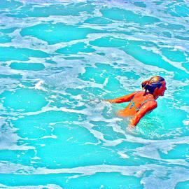 Andy Za - Water Textures. Art On Canary Islands. Atlantic ocean. Tenerife. Playa de las Americas. Wave.  Ebb a