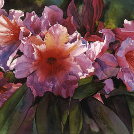 Pat Yager - Watercolor Autumn Gold Rhododendron