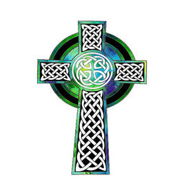 Kandy Hurley - Watercolor Celtic Cross Art