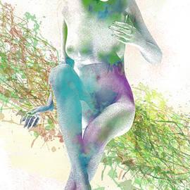 Joaquin Abella - Watercolor Gorgeous Woman by Quim Abella