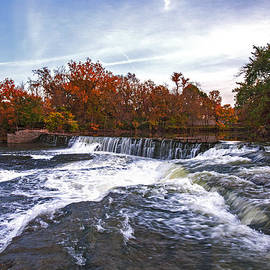 Jerry Cowart - Waterfalls in Autumn on the Stones River Fine Art Photography Print