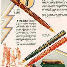 The Advertising Archives - Waterman�s 1929 1920s Uk Cc Pens