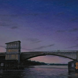 Christopher Reid - Waterway Bridge At Dusk