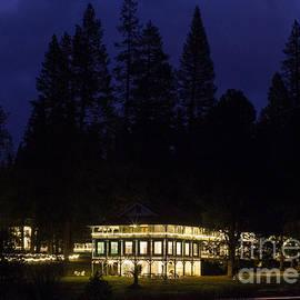 Lisa Anne McKee - Wawona Hotel Yosemite National Park at night