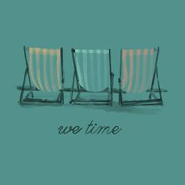 We Time Beach Chairs - Fine Art
