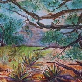 Ellen Levinson - Weathered Branches and Yuccas in Red Rock Country