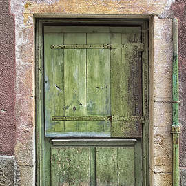 Nomad Art And  Design - Weathered Green French Door