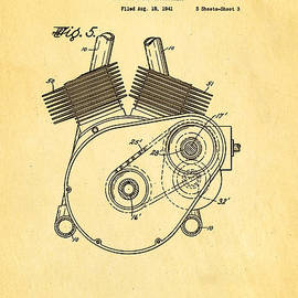 Ian Monk - Weaver Indian Motorcycle Shaft Drive 2 Patent Art 1943