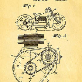 Ian Monk - Weaver Indian Motorcycle Shaft Drive Patent Art 1943