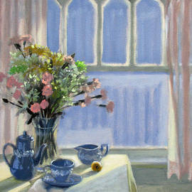 Bonnie Mason - Wedgewood Blues - Flowers by the Window
