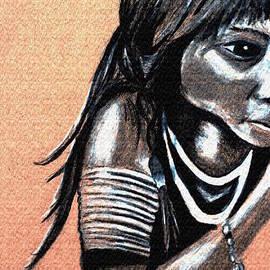 Angela Pari  Dominic Chumroo - Weensizeneet. An Arapaho boy. ca. 1890
