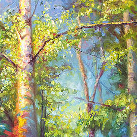 Talya Johnson - Welcome Home - birch and aspen trees