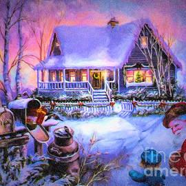 Lianne Schneider - Welcome Santa - Retro Vintage Inspired Christmas Scene