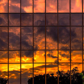 John Haldane - Wells Fargo Sunset Reflection