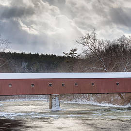 Bill Wakeley - West Cornwall Covered Bridge Winter