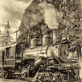 Steve Harrington - West Virginia Steam Engine - Paint sepia