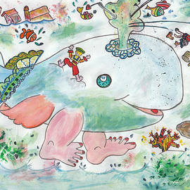 Dominique Fortier - Baleine heureuse / Happy Whale with Legs