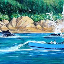 Bob Patterson - Whales and fisherman