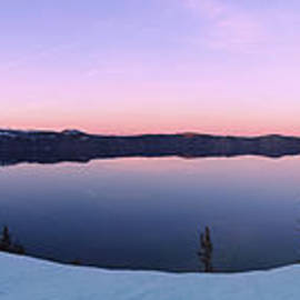 Reflective Moments  Photography and Digital Art Images - When Evening Calls at Crater Lake