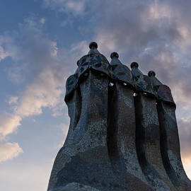 Georgia Mizuleva - Whimsical Chimneys - Antoni Gaudi - Casa Batllo - Barcelona - Spain
