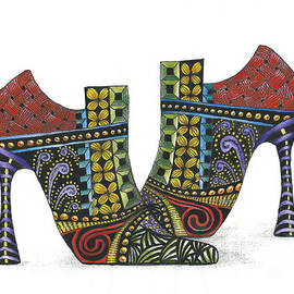 Nan Wright - Whimsical Zentangled Shoes