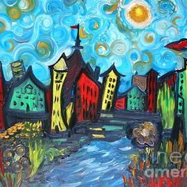 Rhonda Lee - Whimsy Van Gogh Town