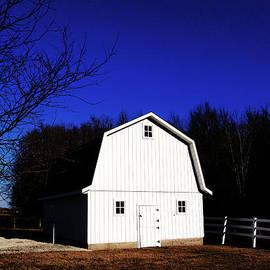 Tina M Wenger - White Barn Very Blue Sky