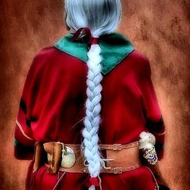 James Stough - White Braided Hair Red Dress