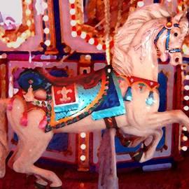 Amy Vangsgard - White Carousel Horse