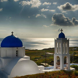 Panagiotis Assonitis - White church in Santorini
