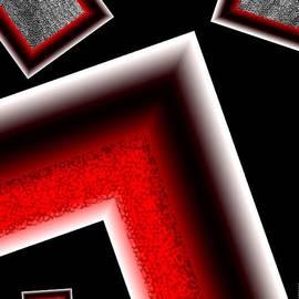 Mario Perez - White edges Geometric Art