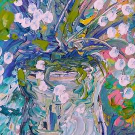 Eloise Schneider - White Flower Abstract
