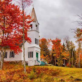 Jeff Folger - White New Hampshire church