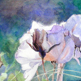 Greta Corens - White Roses in the Shade