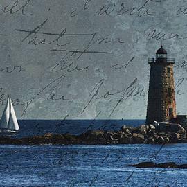 Jeff Folger - White sails on blue