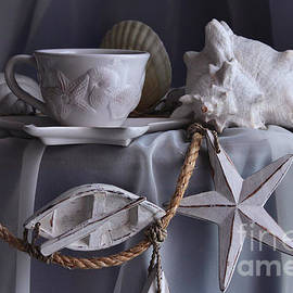 Luv Photography - White teacup and seashells