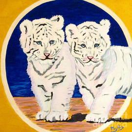 Phyllis Kaltenbach - White Tiger Twins