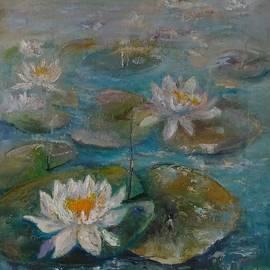 Natalia Bardi - White water lilies