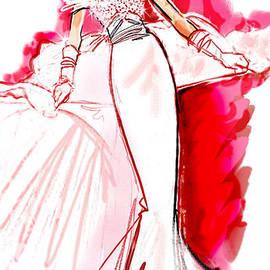 Renee Reeser Zelnick - White Wedding Red Roses